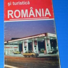 Harta TURISTICA SI RUTIERA ROMANIA. LUKOIL 15 ANI