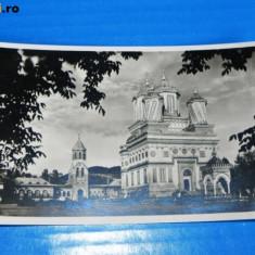CARTE POSTALA VECHE CURTEA DE ARGES - CATEDRALA (MANASTIREA) necirculata. probabil interbelica - Carte Postala Muntenia dupa 1918