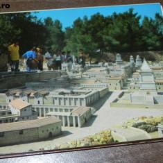 MAPA PLIANT 10 CARTI POSTALE RECONSTTIREA VECHIULUI IERUSALIM . vederi, Israel, Necirculata, Printata