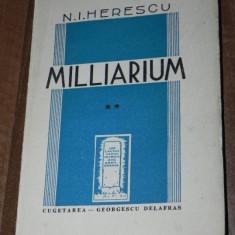 N I HERESCU - MILLIARIUM VOLUMUL 2. 1941