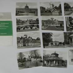 LOT 12 FOTOGRAFII ALB-NEGRU POTSDAM SANSSOUCI. RDG GERMANIA. 1968, Necirculata, Fotografie