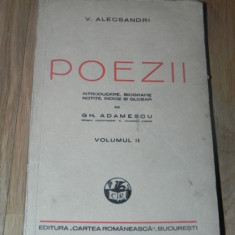 VASILE ALECSANDRI - POEZII. VOL II / 2 editie GH ADAMESCU - Carte Arta muzicala