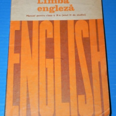MANUAL LIMBA ENGLEZA - CLASA A X-A ANUL II DE STUDIU 1979 - CORINA COJAN