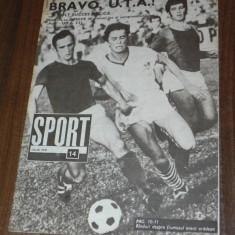 Revista SPORTUL ILUSTRAT - nr 14/1970 - UTA ARAD 1968-1970 - UN EVENT APLAUDAT - Carte sport