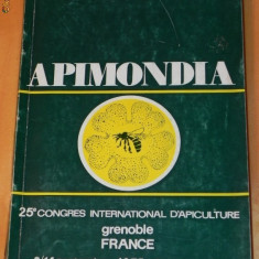 APIMONDIA. programme 23e CONGRES INTERNATIONAL D APICULTURE. GRENOBLE 1975