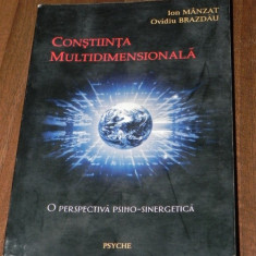 ION MANZAT OV BRAZDAU - CONSTIINTA MULTIDIMENSIONALA PERSPECTIVA PSIHOENERGETICA - Carte Psihologie