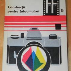 LEONIDA TANASESCU - CONSTRUCTII PENTRU FOTOAMATORI (2223 - Carte Fotografie