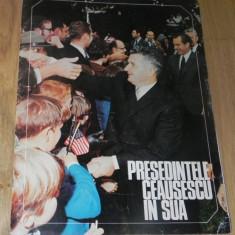 REVISTA PROPAGANDA - PRESEDINTELE RSR - vizita lui nicolae CEAUSESCU IN SUA 1969 - Reclama Tiparita