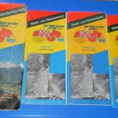 Set 3 harti TIROL. SCARA 1:5000 - Harta Turistica
