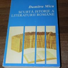 DUMITRU MICU - SCURTA ISTORIE A LITERATURII ROMANE. VOL 2. PERIOADA INTERBELICA