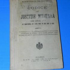CODICE DE JUSTITIE MILITARA DIN ANUL 1881 CU MODIFICARILE DIN 1894 SI 1906 - Carte Legislatie