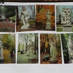 LOT 18 CARTI POSTALE STATUI LENINGRAD RUSIA URSS  ilustrate arta vederi, Necirculata, Printata
