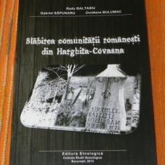 RADU BALTASIU SLABIREA COMUNITATII ROMANESTI DIN HARGHITA SI COVASNA RAPORT 2013 - Carte Sociologie