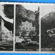 Carte postala / FOTOGRAFIE VECHE BAILE HERCULANE CASINOUL VEDERE GENERALA INTERBELICA NECIRCULATA(v050 - Carte Postala Banat dupa 1918