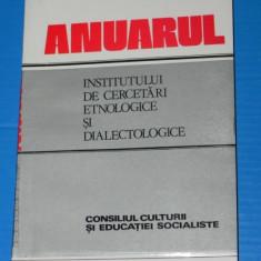 ANUARUL INSTITUTULUI DE CERCETARI ETNOLOGICE SI DIALECTOLOGICE 1987-1988 SERIA A 8-9. folclor. lingvistica (2605 - Carte folclor
