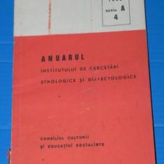 ANUARUL INSTITUTULUI DE CERCETARI ETNOLOGICE SI DIALECTOLOGICE 1982 SERIA A 4. folclor (2603 - Carte folclor
