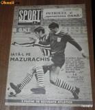 Revista SPORTUL ILUSTRAT nr 6/1969  FC PETROLUL PLOIESTI si operatiunea Oana