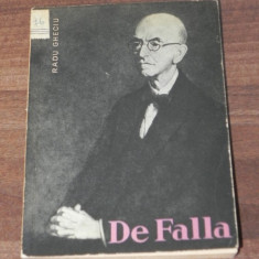 RADU GHECIU - DE FALLA - Carte Arta muzicala