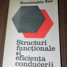 HARALAMBIE ENE - STRUCTURI FUNCTIONALE SI EFICIENTA CONDUCERII - Carte Sociologie