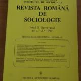 REVISTA ROMANA DE SOCIOLOGIE NR. 1-2/1999 - Carte Sociologie