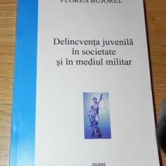 FLOREA BUJOREL - DELINCVENTA JUVENILA IN SOCIETATE SI IN MEDIUL MILITAR - Carte Sociologie