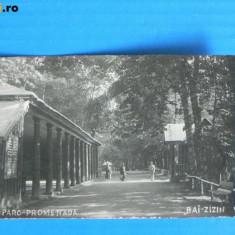 CARTE POSTALA ILUSTRATA VECHE BAI baile ZIZIN PARC PROMENADA - INTERBELICA, ANII 1920 (PROBABIL). judetul Brasov (v002 - Carte Postala Transilvania dupa 1918