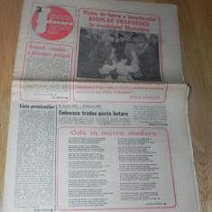 ZIARUL FLACARA NR 3/1981. 15 IANUARIE. FOTBAL - CU RAPID BUCURESTI IN ITALIA REPORTAJ DE EXCEPTIE SEMNAT DE OVIDIU IONAITOAIA