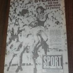 SPORTUL ILUSTRAT - nr 6/1988 - STEAUA BUCURESTI CAMPIOANA ROMANIEI. TITLUL 13 - Carte sport