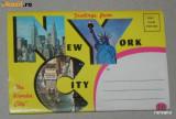 Pliant 12 ILUSTRATE / VEDERI NEW YORK USA SUA STATELE UNITE ALE AMERICII 1963, Necirculata, Printata