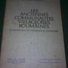HENRI H. STAHL - LES ANCIENNES COMMUNAUTES VILLAGEOISES ROUMAINES - Carte Sociologie