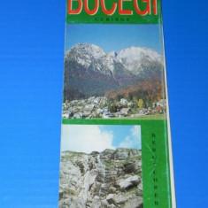 HARTA TURISTICA muntii BUCEGI 1998 . TEXT LIMBA GERMANA