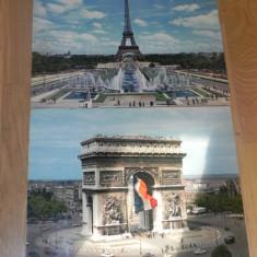 2 CARTI POSTALE PARIS - ARCUL DE TRIUMF. TURNUL EIFFEL, Franta, Necirculata, Printata