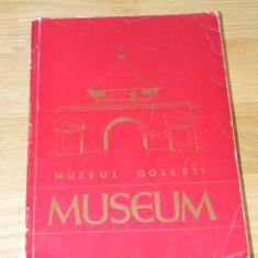 MUZEUL GOLESTI - MUSEUM - STUDII SI COMUNICARI DE ISTORIE SI ETNOGRAFIE 1974 - Carte Arta populara