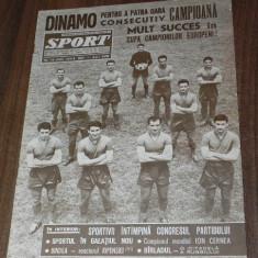 Sport SPORTUL ILUSTRAT nr13/1965 DINAMO BUCURESTI CAMPIOANA A 4-A OARA LA FOTBAL