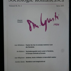 SOCIOLOGIE ROMANEASCA - 2005 (75656 - Carte Sociologie, Polirom
