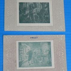 LOT 2 CARTI POSTALE REPRODUCERI ARTA GENOVEVA SI FAUST ATELIERELE SOCEC & CO PERIOADA INTERBELICA (v052 - Carte postala tematica