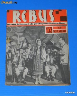 REVISTA REBUS 1963 NR 153 - APROAPE NECOMPLETATA (00529 foto