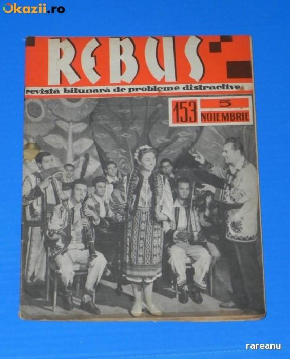REVISTA REBUS 1963 NR 153 - APROAPE NECOMPLETATA (00529