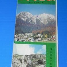 HARTA TURISTICA muntii BUCEGI 1998 . TEXT LIMBA ENGLEZA