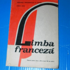 MARCEL SARAS - MANUAL LIMBA FRANCEZA CLASA A XII-A- ANUL VIII DE STUDIU- 1992