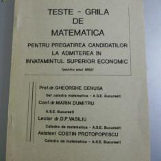 TESTE GRILA MATEMATICA PENTRU ASE - Culegere Matematica