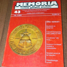 MEMORIA - REVISTA GANDIRII ARESTATE NR 43 2/2006 - Biografie