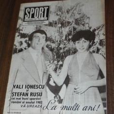 Revista SPORTUL ILUSTRAT nr12/1982 Universitatea CRAIOVA sferturile cupei uefa - Carte sport