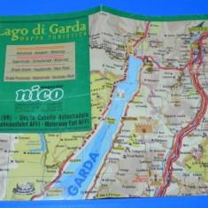 Harta TURISTICA LAGO DI GARDA. ITALIA