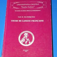 ANA GOLDIS FIROIU - COURS DE LANGUE FRANCAISe / CURS DE LIMBA FRANCEZA