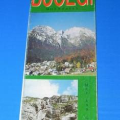 HARTA TURISTICA muntii BUCEGI 1998 . TEXT LIMBA ENGLEZA. muntii carpati