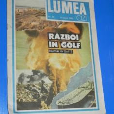 REVISTA LUMEA NR 32 - 9 AUGUST 1990. dosar Razboiul din Golf - Istorie