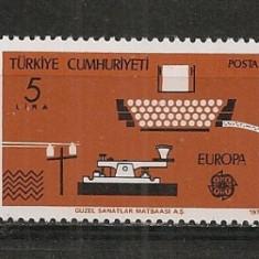 Turcia.1979 EUROPA-Istoria Postei ST.338 - Timbre straine, Nestampilat