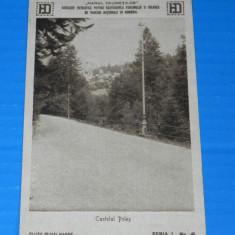 Carte postala veche CASTELUL PELES - INTERBELICA, CCA 1921, CLISEU DE MIHAI HARET, HANUL DRUMETILOR. judetul prahova. promovarea turismului (v033