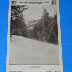 Carte postala veche CASTELUL PELES - INTERBELICA, CCA 1921, CLISEU DE MIHAI HARET, HANUL DRUMETILOR. judetul prahova. promovarea turismului (v033 - Carte Postala Muntenia dupa 1918